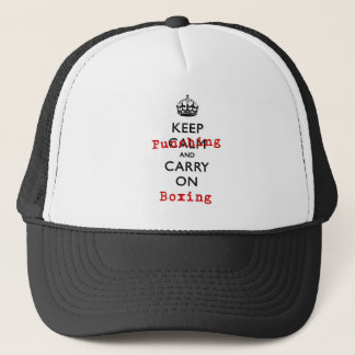 KEEP PUNCHING TRUCKER HAT