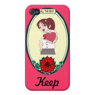 Keep que habla - corazón en mi mano iPhone 4 funda