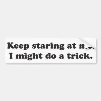 Keep que miraba fijamente mí puede ser que haga un etiqueta de parachoque