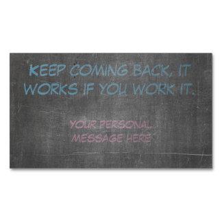 Keep que se vuelve, trabaja si usted lo trabaja tarjetas de visita magnéticas (paquete de 25)
