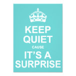 Keep Quiet Cause It's A Surprise Party 5x7 Paper Invitation Card