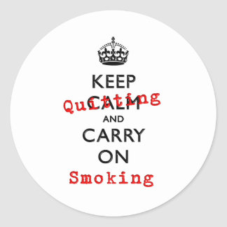 KEEP QUITTING CLASSIC ROUND STICKER