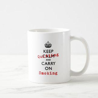 KEEP QUITTING COFFEE MUG