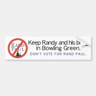 Keep Randy and his bong in Bowling Green Bumper Sticker