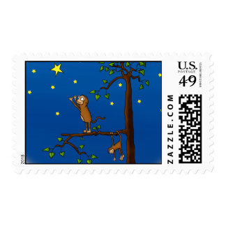 Keep Reaching Monkey Postage Stamps