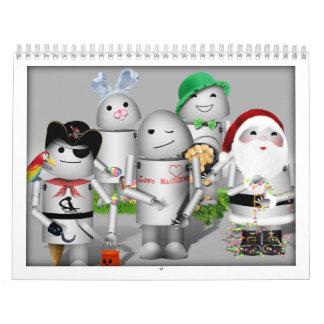Keep Robo-x9 Around for the New Year! Calendar
