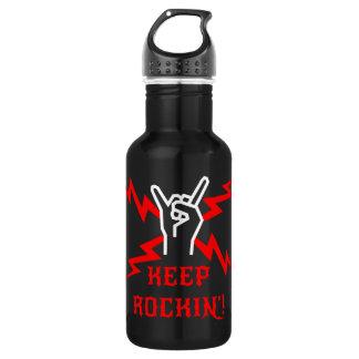 Keep Rockin'! 18oz Water Bottle