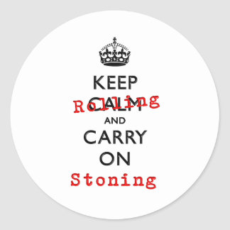 KEEP ROLLING CLASSIC ROUND STICKER