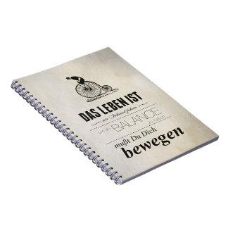 Keep Running (cyclist) Spiral Notebooks