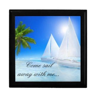 Keep Sake/Gift Box/Beach with Quote Jewelry Box