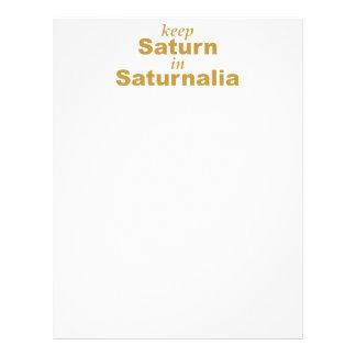 Keep Saturn in Saturnalia Letterhead