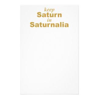 Keep Saturn in Saturnalia Stationery