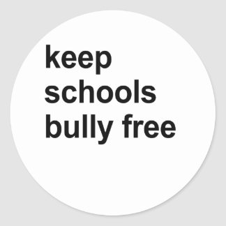 keep schools bully free classic round sticker
