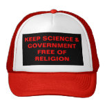 KEEP SCIENCE & GOVERNMENT FREE OF RELIGION MESH HATS