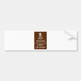 Keep Shaman Bumper Sticker