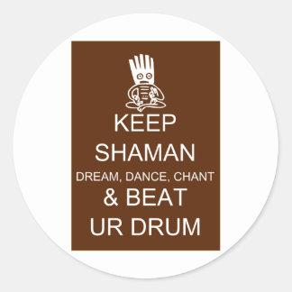 Keep Shaman Classic Round Sticker