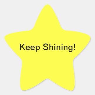 Keep Shining stickers! Star Sticker