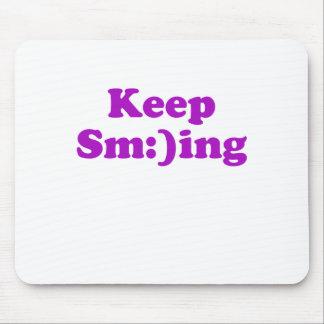 Keep Sm:)ing Mouse Pad
