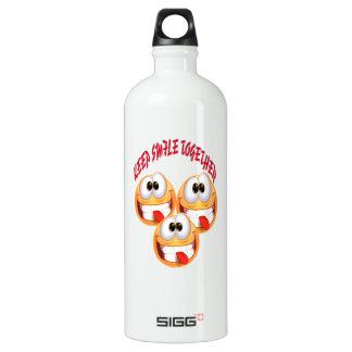 Keep Smile Together Aluminum Water Bottle