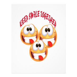Keep Smile Together Customized Letterhead