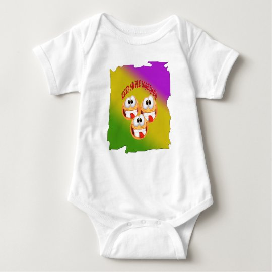 Keep Smile Together With fresh Gradient Baby Bodysuit