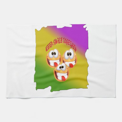 Keep Smile Together With fresh Gradient Towel