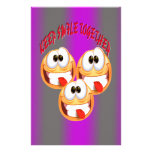 Keep Smile Together With Gradient Customized Stationery