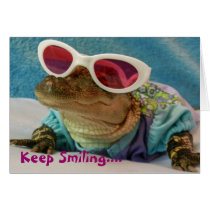 Keep Smiling... Alligator In Sunglasses Card