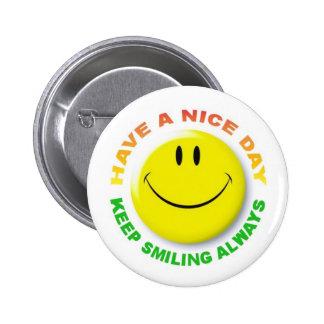 KEEP SMILING ALWAYS 2 INCH ROUND BUTTON