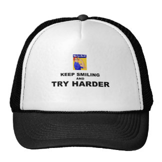 Keep Smiling And Try Harder Mesh Hats