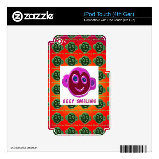 KEEP SMILING Artistic Text n Faces iPod Touch 4G Skins