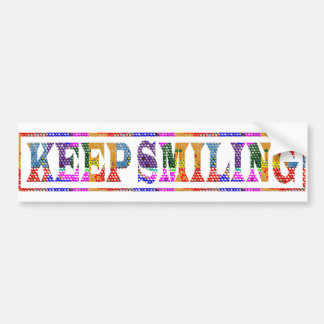 KEEP SMILING : Black Art in Color Bumper Sticker