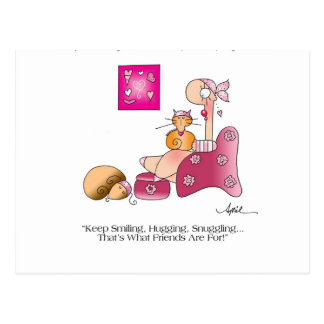 KEEP SMILING Breast Cancer Postcard
