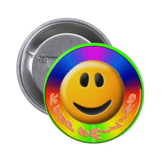 Keep Smiling Button-Smiley 2 Inch Round Button