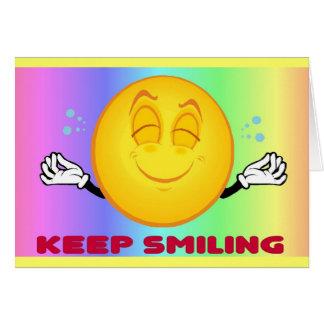 Keep Smiling Greeting Card 2