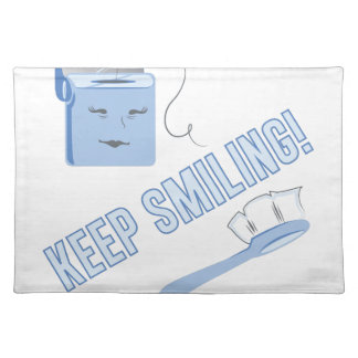 Keep Smiling Cloth Placemat