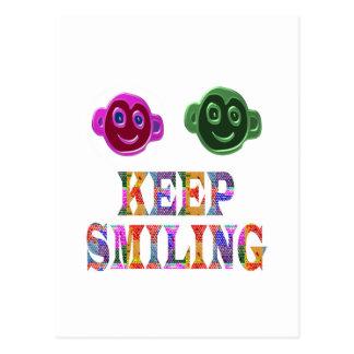 KEEP SMILING POSTCARD