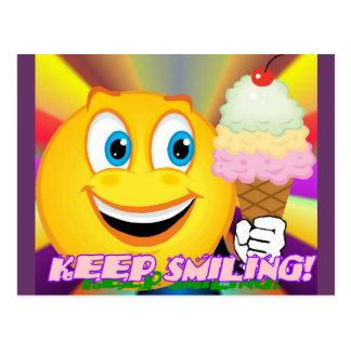 Keep Smiling Postcard 1