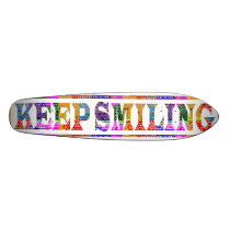 KEEP SMILING SKATEBOARD DECK