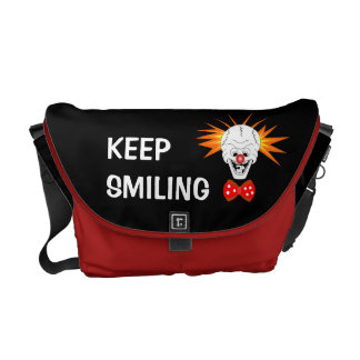 Keep Smiling Skull Messenger Bag