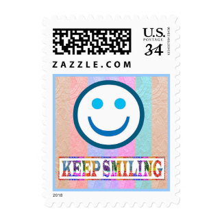 KEEP SMILING : SMILEY POSTAGE STAMPS