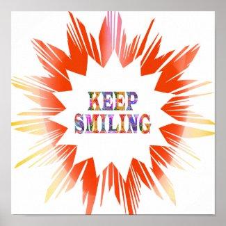 KEEP SMILING : Star Sparkle Print