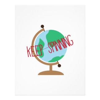 Keep Spinning Letterhead
