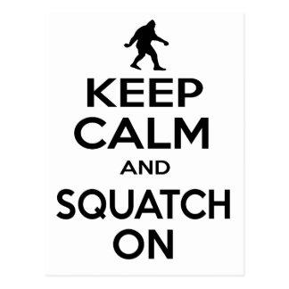 Keep Squatchin' Postcards