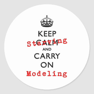 KEEP STARVING CLASSIC ROUND STICKER