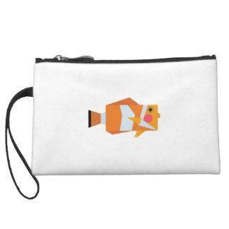 Keep Swimming and Smiling as Clown Fish Shirt Wristlet Wallet