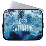 Keep Swimming Ocean Motivational Computer Sleeves