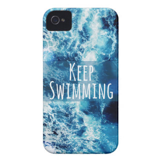 Keep Swimming Ocean Motivational iPhone 4 Case-Mate Case
