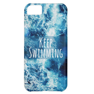 Keep Swimming Ocean Motivational iPhone 5C Cover