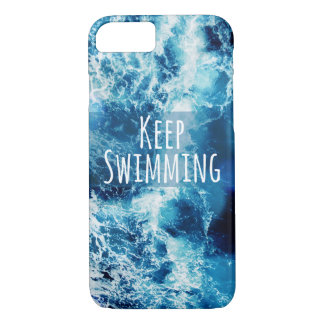 Keep Swimming Ocean Motivational iPhone 7 Case
